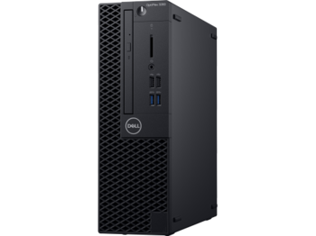 купить DELL OptiPlex 3060 SFF lntel® Core® i3-8100 (Quad Core, 3.60GHz, 6MB), 8GB DDR4 RAM, 256GB SSD, DVD-RW, lnteI® UHD630 Graphics, TPM, 200W PSU, USB mouse, USB KB216-B, Ubuntu, Black в Кишинёве