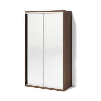 Шкаф купе 1200 2 зеркала, орех тёмный