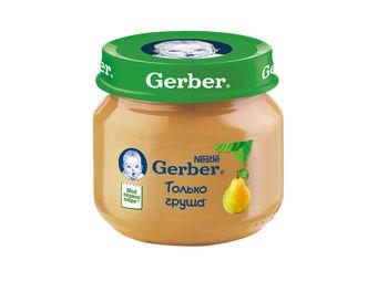 купить Gerber пюре груша Вильямс 4+мес. 80г в Кишинёве