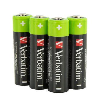 Verbatim AA Rechargeable Battery 2600mAh 4 Pack 49941