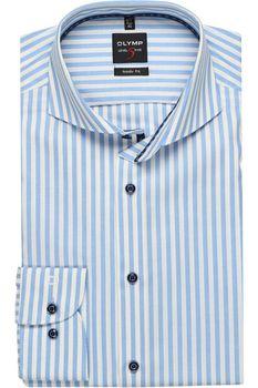 Рубашка OLYMP Белый в голубую полоску