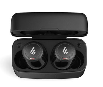 Edifier TWS5 Black Wireless Bluetooth Earbuds Stereo Plus, Bluetooth v5.0 aptX , IPX5, Up to 10m connection distance, Battery Lifetime 24 hours(earbuds+docking case), 20Hz-20KHz, touch controls, ergonomic in-ear