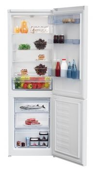 Холодильник с нижней морозильной камерой Beko RCSA365K20W, 343л, 185см, A+
