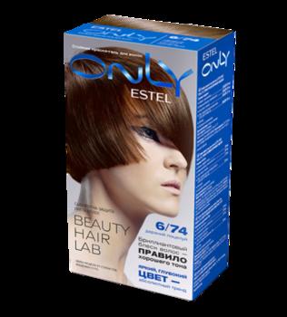 Краска для волос,ESTEL Only, 100 мл., 6/74 - Тёмно-русый коричнево-медный
