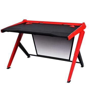Computer Desk DXRacer - GD-1000-NR, Double Triangle Design, Color-Black/Red, Material-Strong & Durable High Quality ABS+Wooden Desk Board+Steel Rod Frame, Backstage-blind carbon fiber, 10 Degree Slope, 360 Degree Rotatable, Size1270x790x390, W-32kg