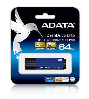 cumpără Flash Drive ADATA S102 Pro, Titanium-Blue 64Gb în Chișinău
