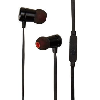 JBL TUNE 290 / In-ear headphones with microphone ,Aluminum finishes, Dynamic driver 8.7mm, Frequency response 20 Hz-20 kHz, 1-button remote with microphone, JBL Pure Bass sound, Tangle-free flat cable, 3.5 mm jack, Black
