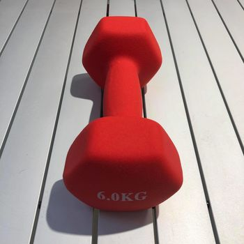 Гантель матовая 6 кг (4558)
