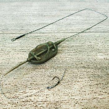 """Карповый монтаж """"Method Arc Flat"""" , вес 70 грамм,крючки """"Carp Hook"""" (ТЕФЛОН)"""