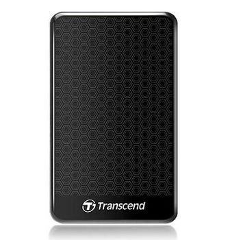 "Transcend External 1.0TB 2.5"" Case ""StoreJet 25A3"", Black, Anti-Shock, One Touch Backup, (USB3.0)"