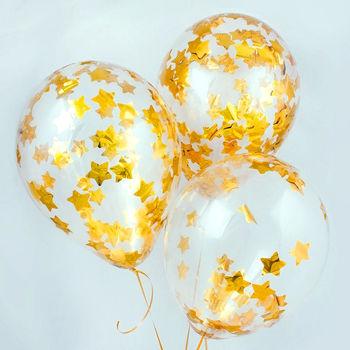 купить Шар с конфетти звезды Золотые в Кишинёве
