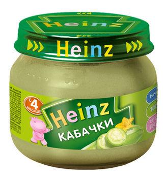 Пюре Heinz кабачки с 4 месяцев, 80г