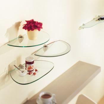 купить Полка Peach Glassart 400x230x8 мм, прозрачное стекло в Кишинёве