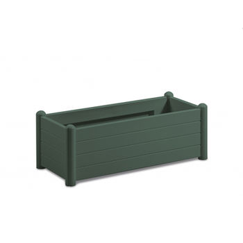купить Цветочный горшок Italia прямоугольный 1000х430х350 мм, зелёный в Кишинёве