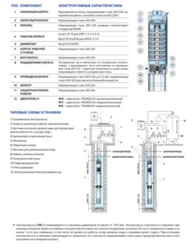 купить Скважинный глубинный насос Pedrollo 4SR4m/18 1.5 кВт до 112 м в Кишинёве