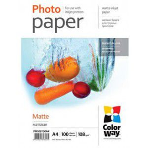 ColorWay MatteCoated Photo paper A4, 190gr, 50pcs