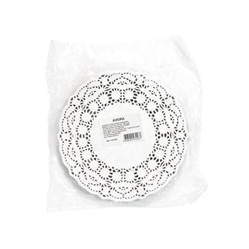 Ажурная салфетка сервировочная, круглая, диаметр 18 см