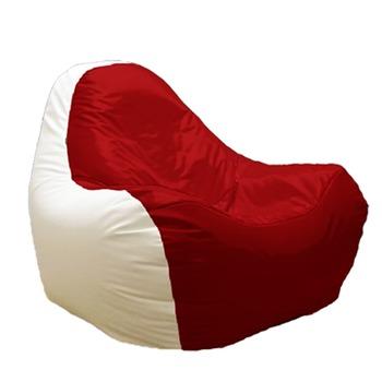 купить Кресло мешок Hi-Poly белый/красный в Кишинёве
