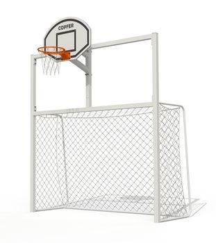 купить Ворота для минифутбола c баскетбольным щитом PTP 712 в Кишинёве