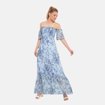 Платье ORSAY Голубой с принтом