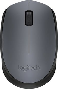 Logitech Wireless Mouse M170 Grey, Optical Mouse for Notebooks, Nano receiver,  Grey, Retail
