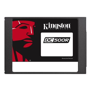 "2.5"" SSD 960GB  Kingston DC500R Data Center Enterprise, SATAIII, Read-centric, 24/7, SED, PLP, Sequential Reads:555 MB/s, Sequential Writes:525 MB/s, Steady-state 4k: Read: 98,000 IOPS / Write: 20,000 IOPS, 7mm, Phison PS3112-S12DC, 3D NAND TLC"