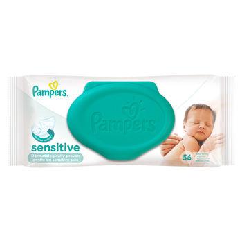 купить Влажные салфетки Pampers Sensitive (56 шт) в Кишинёве