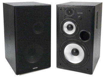 "Edifier R2700 (Studio 7)  Black, 2.0/ 128W (2x64W) RMS, Three-amping, Hi-Fi, Audio in: two digital (Optical, Coaxial) & two analog (RCA), remote control, wooden, (6.5""+4""+3/4"")"