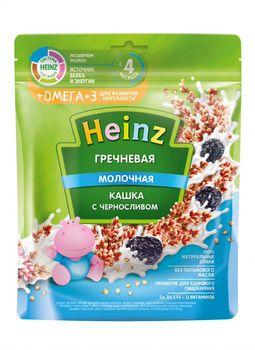 Каша Heinz Омега3 гречневая с молоком и черносливом, с 4месяцев, 200г