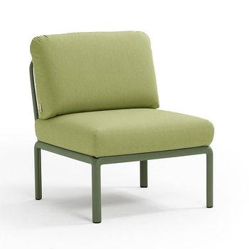 Кресло модуль центральный с подушками Nardi KOMODO ELEMENTO CENTRALE AGAVE-avocado Sunbrella 40373.16.139