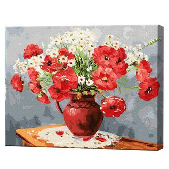 Букет маков и ромашек, 40х50 см, картина по номерам Артукул: GX23470