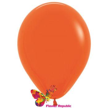 купить Латексный воздушный шар Оранжевый- 30 см в Кишинёве