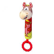 Игрушка-пищалка с прорезывателем Лошадка