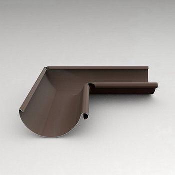 купить Угловой стык внутренний  90º (125 mm) RAL-8017 в Кишинёве