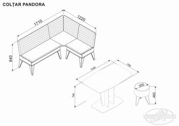Кухонный уголок Pandora