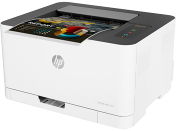 cumpără Printer HP Color LaserJet 150a, White, Up to 18ppm b/w, Up to 4ppm color, 600x600 dpi, Up to 20000 p., 64MB RAM, PCL 5c/6, Postscript 3, USB 2.0,Blue Angel DE-UZ 205 (HP 117A/X Bl/C/Y/M) în Chișinău