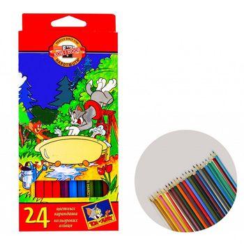 Карандаши цветные Koh-I-Noor Tom and Jerry 24 цветов