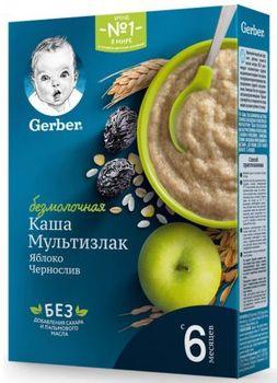 купить Gerber каша Мультизлаковая безмолочная с яблоком и черносливом, 6 + мес, 180 гр в Кишинёве