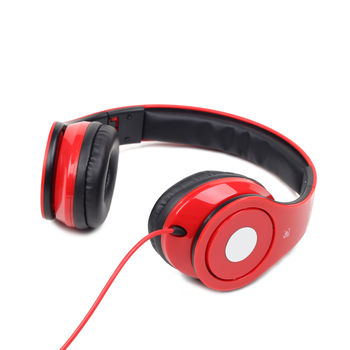 """Gembird MHS-DTW-R  """"Detroit"""", Folding stereo headphonest with Microphone, 3.5mm (4 pin), Red"""