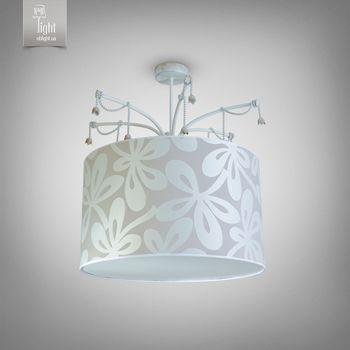 купить N&B Light Люстра Берта 8955-1 серый белая структура/золото в Кишинёве