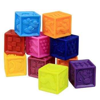 купить Battat развивающие силиконовые кубики посчитаика, 10 штк в Кишинёве