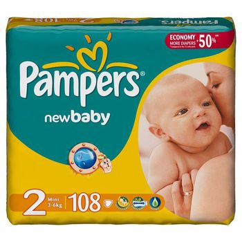 PAMPERS GIANT PACK 2 (3-6 kг) (108 шт.)