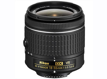 Nikon AF-P DX NIKKOR 18-55mm f/3.5-5.6G VR (NEW Lens) (w/b), DX, filter: 55mm, JAA826DA (Obiectiv Nikon/ обьектив Nikon)