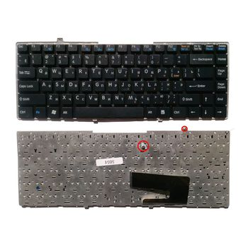 "Keyboard Sony VGN-FW w/o frame ""ENTER""-small ENG/RU Black"