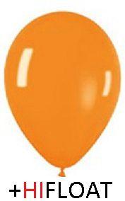 купить Шарик с Гелием Оранжевый + HIFLOAT в Кишинёве
