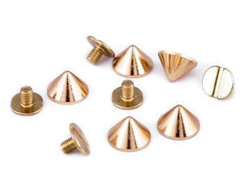 Ţinte conice / piciorușe metalice genți 9,5 mm / auriu