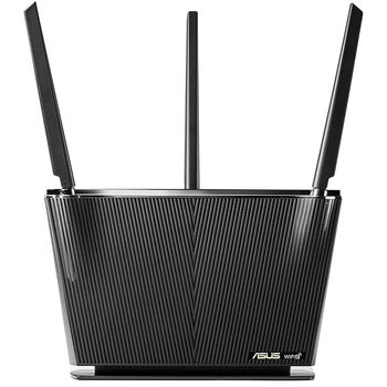 ASUS RT-AX68U AX2700 Dual Band WiFi 6 (802.11ax) Router supporting AiProtection Pro, WiFi 6 802.11ax Mesh System, AX2700 861 Mbps+1802 Mbps, dual-band 2.4GHz/5GHz-3 for up to super-fast 2.7Gbps, WAN:1xRJ45 LAN: 4xRJ45 10/100/1000, USB 2.0&USB 3.0