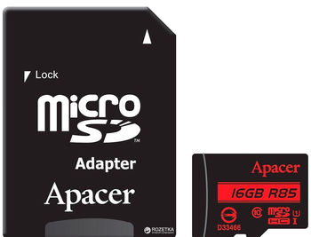 cumpără Apacer 16GB MicroSD (Class 10)  +SD adapter. în Chișinău