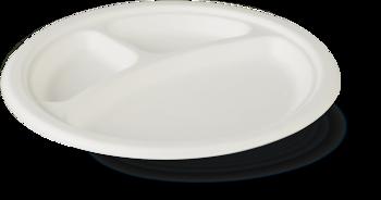 Тарелка из сахарного тростника FRP 22-3  225*20 мм