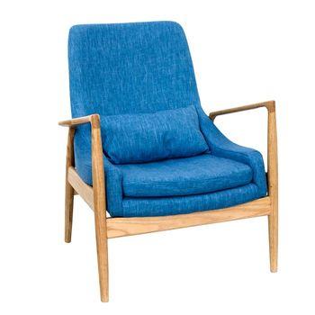 cumpără Fotoliu din lemn tapitat cu şezut din stofa, 760x730x890 mm în Chișinău